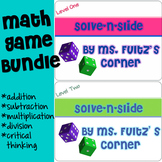 Multiplication, Division, Addition, & Subtraction: Math Game Task Cards BUNDLE