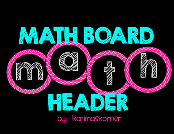 Math Board Header