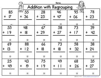 Math Board Races for Addition and Subtraction with and without regrouping