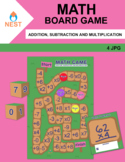 Math Board Game Addition, Subtraction and Multiplication