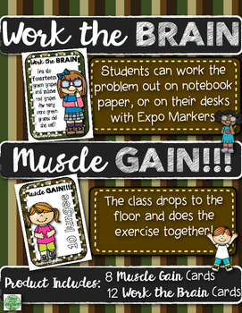 Math Body Pump: Addition and Subtraction Word Problems