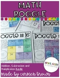 Math Boggle Bundle (Addition, Subtraction, and Multiplicat
