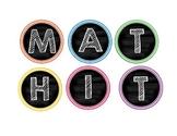 Math Boggle Chevron and Chalkboard Theme