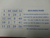 Math Boggle Gameboards, Set of 9, Full Color