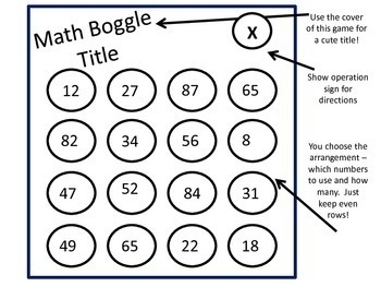 Math Boggle - Practice operations!