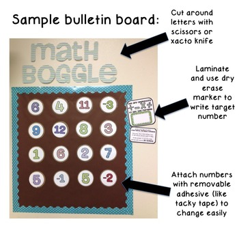 Math Boggle (editable)