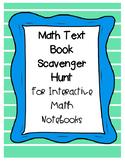Math Book Scavenger Hunt