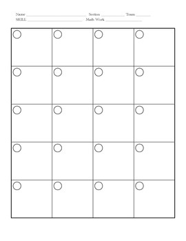 "Math ""Book Work"" Organizer"