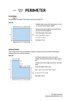 Math Booklet - Shape, Space And Measurement