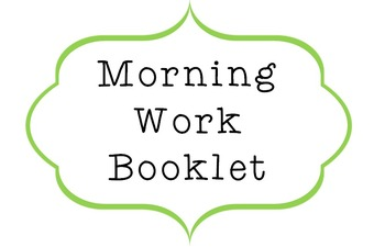 Math Booklet for Morning work