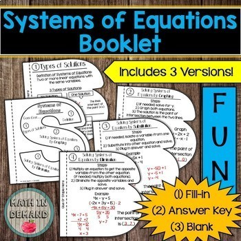 Math Booklets (Great for Math Interactive Notebooks)
