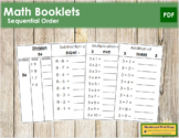 Math Booklets - Sequential Order (LARGE)