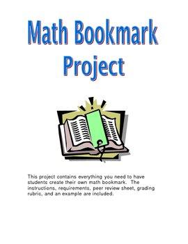 Math Bookmark Project