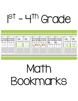 Math Bookmarks {Set}