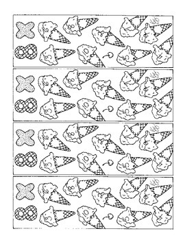 Math Bookmarks Multiplication Coloring Pages Eight Tables Ice Cream Cone pdf