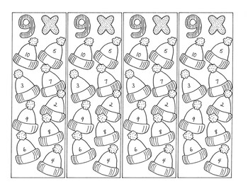 Math Bookmarks Multiplication Coloring Pages Nine Tables Hats pdf
