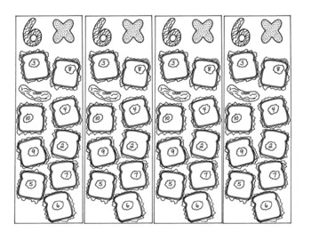 Math Bookmarks Multiplication Coloring Pages Six Tables Sandwich Pickle pdf