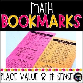 Math Bookmarks | Place Value Bookmarks | Number Sense Bookmarks