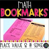 Math Bookmarks   Place Value Bookmarks   Number Sense Bookmarks