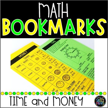 Math Bookmarks   Time Bookmarks   Money Bookmarks   Time and Money