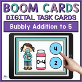 Summer Math Boom Cards - Addition To Five