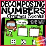 Math Boom Cards | Christmas Decomposing Numbers | Google Slides | Spanish |Audio