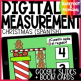 Math Boom Cards | Christmas Measurement | Capacity | Spanish | Google