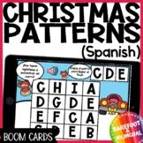 Math Boom Cards | Christmas Patterns | Spanish | PreK | Audio