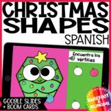 Math Boom Cards   Christmas Shapes   Google Slides   PreK   Kinder   Spanish