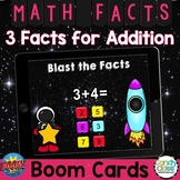 Math Boom Cards™ Distance Learning: 3 Facts Addition Fact