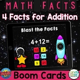 Math Boom Cards™ Distance Learning: 4 Facts Addition Fact