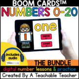 Math Boom Cards for Learning Numbers 0-20 BUNDLE