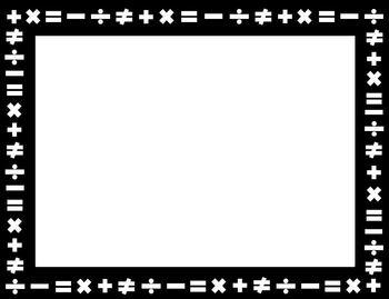 Math Borders - Set of 6 Borders (letter, legal and ledger sizes)