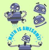 Math Bot Robot Clipart - Freebie!