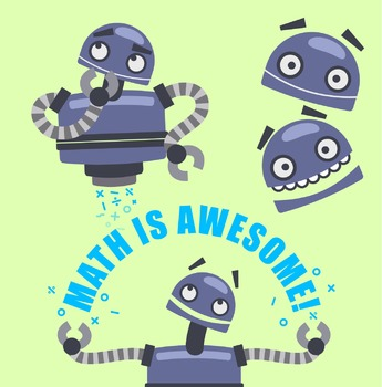 Math Bot Robot Clipart - Freebie!