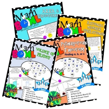 Math Bowl Activity Bundle | 9 Station Activities