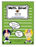 Math Bowl: First Grade Football Math Unit