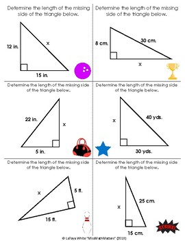 Math Bowl | Pythagorean Theorem | Finding the hypotenuse or legs