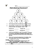 Math Bowling: Fractions