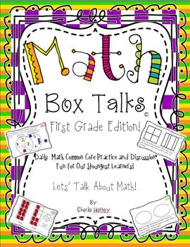 Math Box Talks ~ First Grade Edition!  CCSS Math Fun for our Youngest Learners