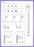 Math Boxes, Number Sense, Addition and Subtraction, SPED M