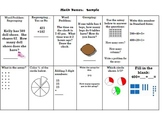 Math Boxes Second Grade Homework Common Core