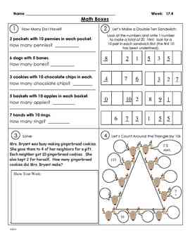 Math Boxes and Assessments Weeks 17-20