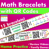 Kindergarten Math Homework Bundle {Bracelets with QR Codes}