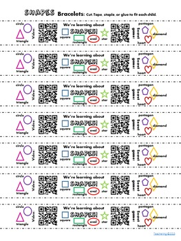 Kindergarten Math Homework Bundle {Bracelets with QR Codes}