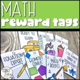 Math Brag Tags Classroom Rewards and Motivation