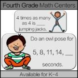 Fourth Grade Math Centers: Operations & Algebraic Thinking