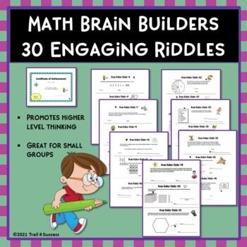Math Brain Teasers - 30 Mini Test Prep Activities