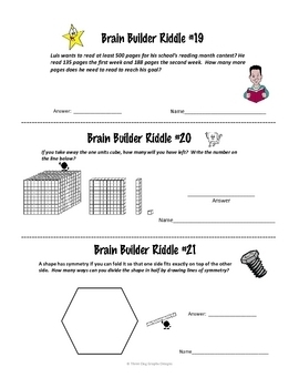Math Brain Teasers - 30 Mini Test Prep Activities