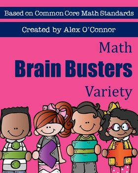 Math Brain Busters Variety Set - Math Problems for the Upper Grades